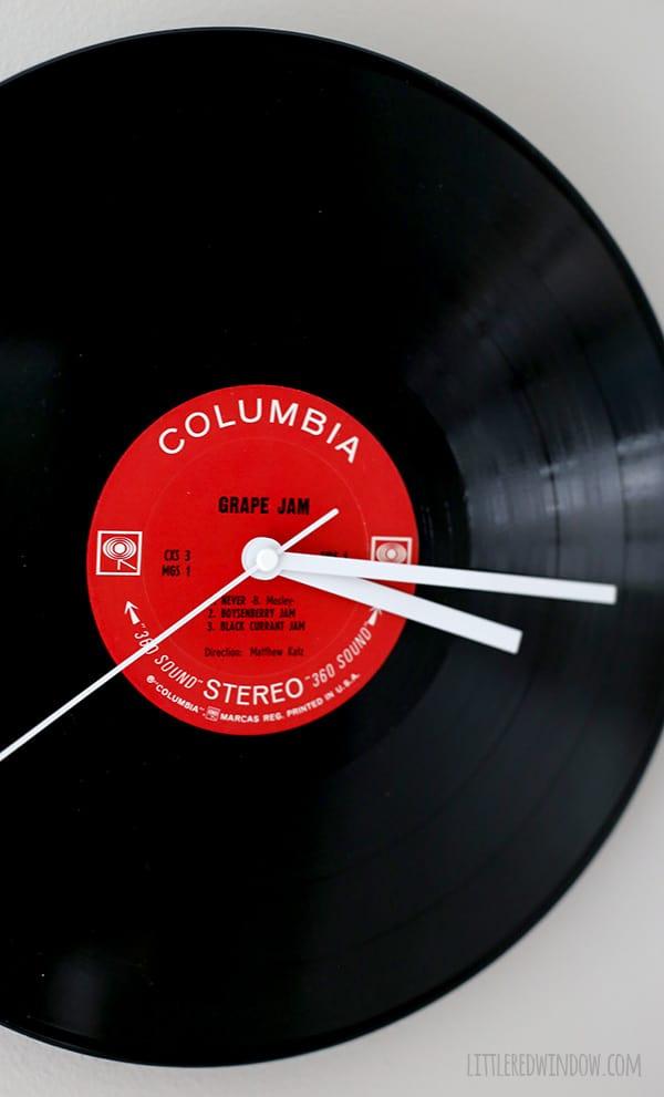 DIY Record Clock from an old LP! | littleredwindow.com