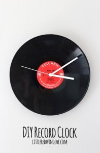 DIY Record Clock from an old LP! | littleredwindow.com