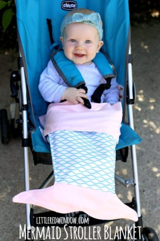 Mermaid Stroller Blanket