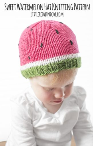 Sweet Watermelon Hat Knitting Pattern