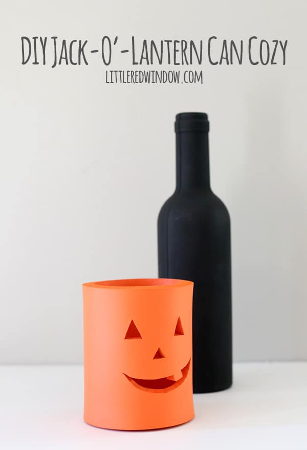 DIY Jack-O'-Lantern can cozy perfect for Halloween! And it's super quick to make! | littleredwindow.com