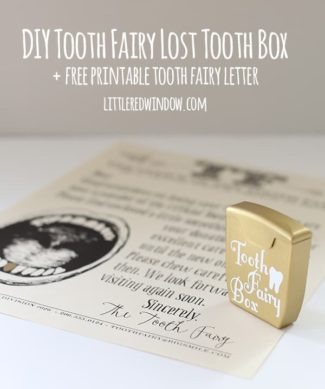 Free Printable Tooth Fairy Letter and DIY Tooth Fairy Lost Tooth Box