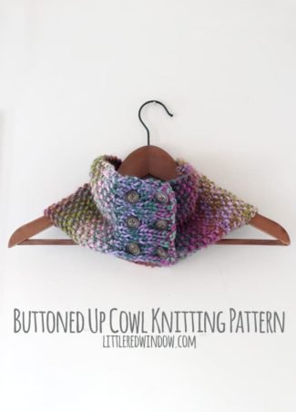 Buttoned Up Cowl Knitting Pattern