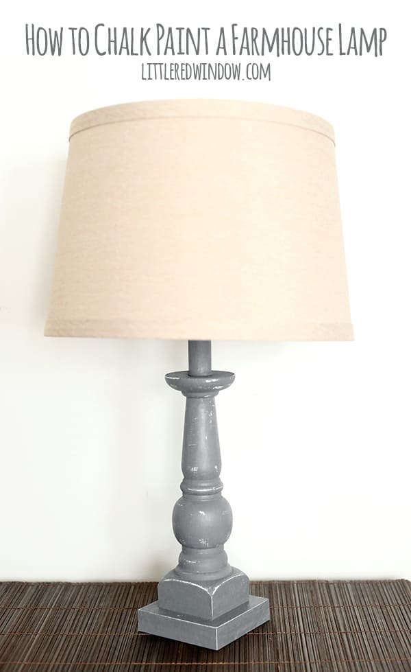 How to Chalk Paint a Farmhouse Lamp!   littleredwindow.com