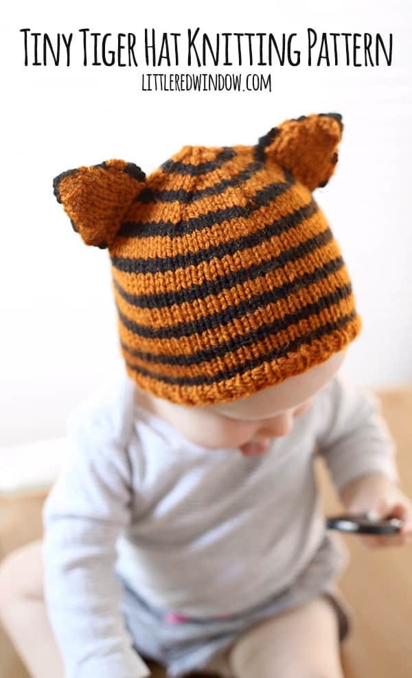 Knitting Pattern Errata : Tiny Tiger Hat Knitting Pattern - Little Red Window