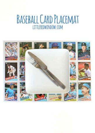 DIY Baseball Card Placemat