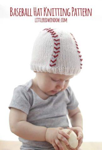 Baseball Baby Hat Knitting Pattern