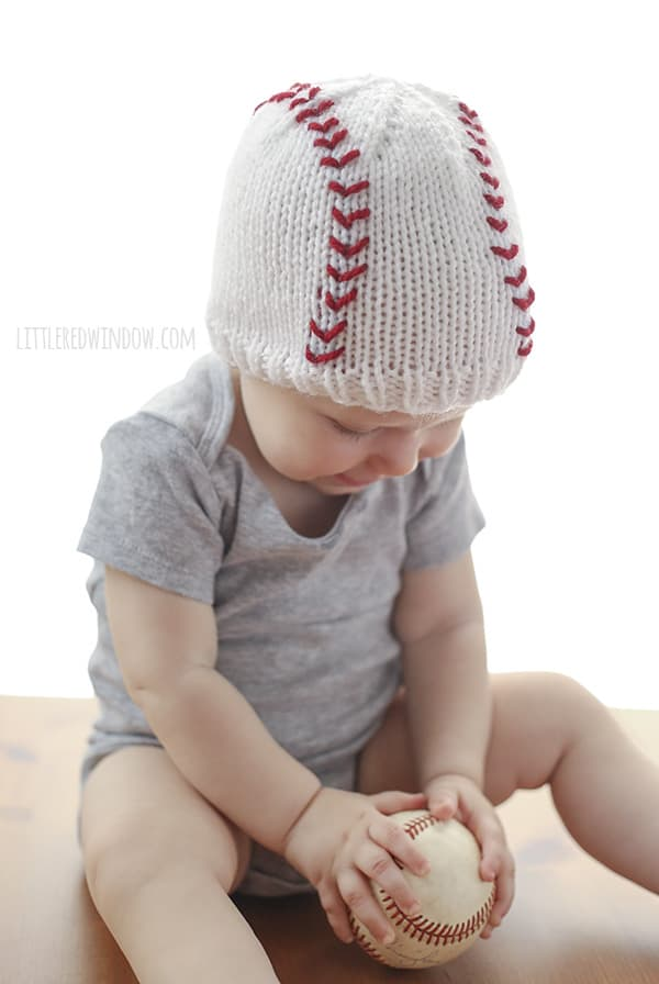 Baseball Baby Hat Knitting Pattern Little Red Window