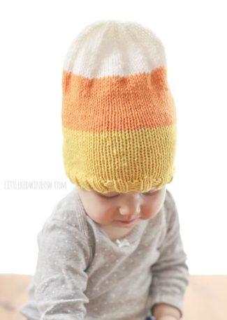 Sweet Candy Corn Hat Knitting Pattern
