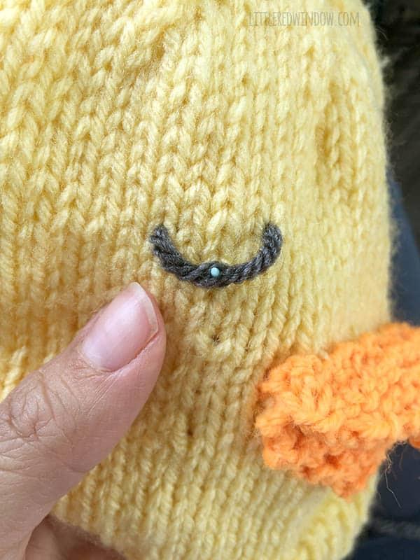 Little Chick Hat Free Knitting Pattern Process   littleredwindow.com