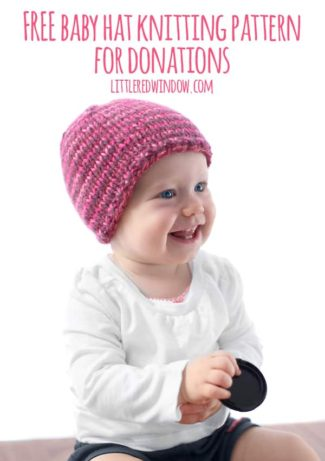 The Do-Gooder Quick Knit Hat Free Knitting Pattern for Charity Donations