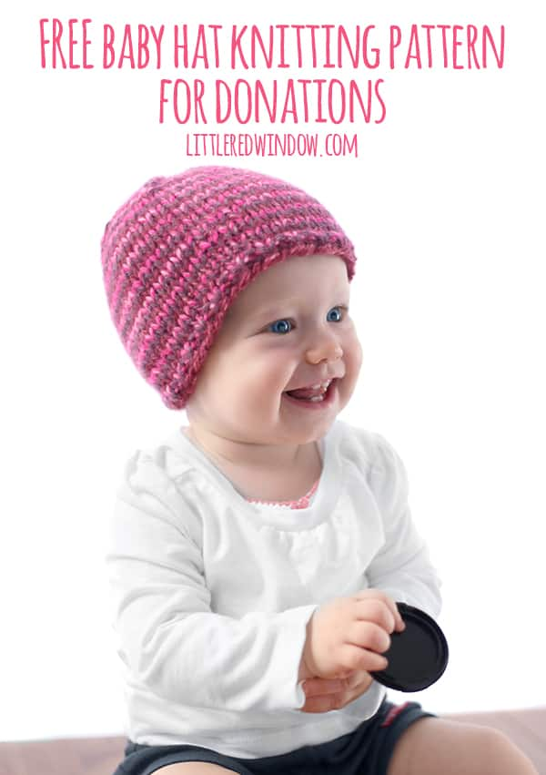 The Do-Gooder Hat free knitting pattern for donations! A great simple and quick pattern to make hats to donate to your favorite charity!