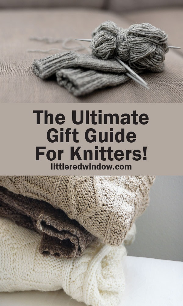 Get tons of great ideas for all the knitters on your shopping list with this huge list, the ULTIMATE gift guide for knitters!