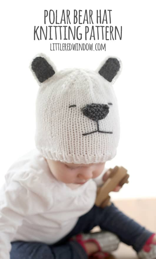 bb6714be8cc Little Polar Bear Hat Knitting Pattern - Little Red Window