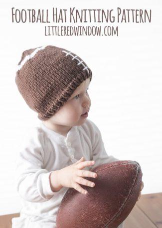 Fun Football Hat Knitting Pattern