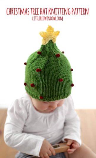 Christmas Tree Hat Knitting Pattern