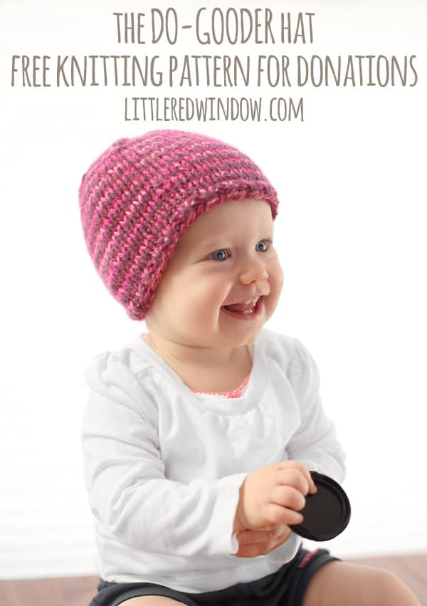 The Do Gooder Quick Knit Hat Free Knitting Pattern For Charity