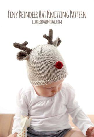 Tiny Reindeer Hat Knitting Pattern