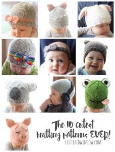 Love the 10 Cutest Free Baby Hat Patterns EVER! Adorable knitting patterns for babies and toddlers!