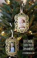 double sided photo ornament