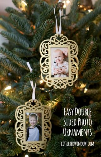 DIY Easy Double Sided Photo Ornaments