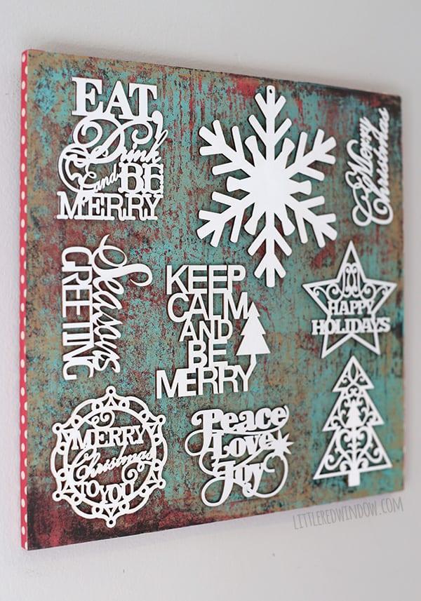 Easy Christmas Subway Art | littleredwindow.com