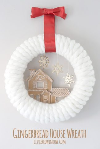 Gingerbread House Wreath