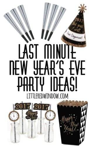 Last Minute New Year's Eve Party Ideas!