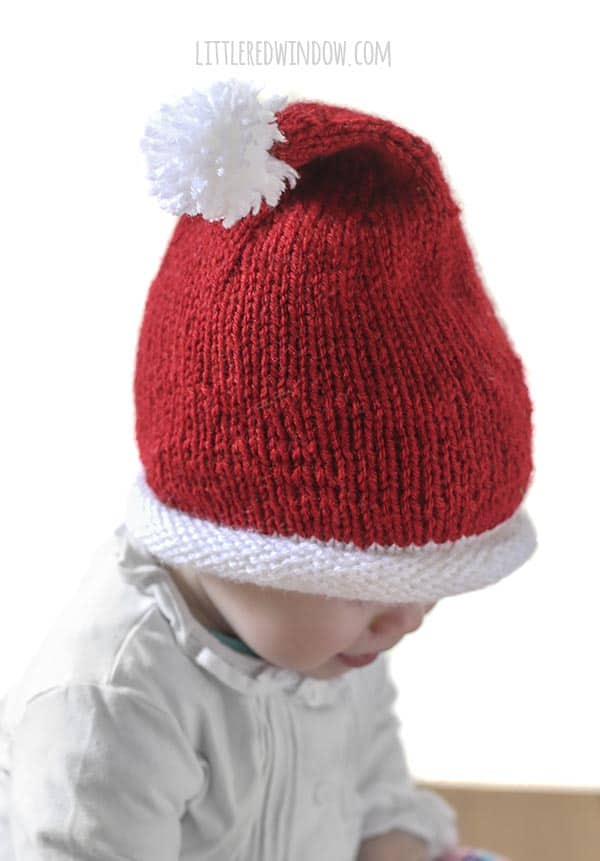 Little Santa Hat Knitting Pattern - Little Red Window