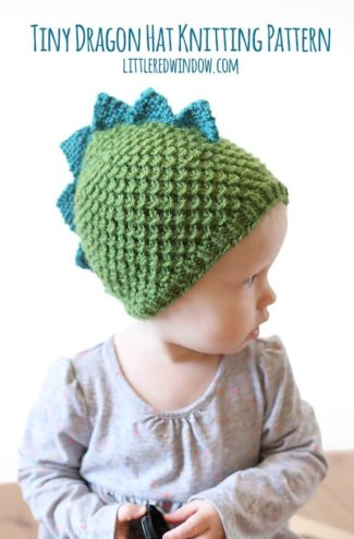 Tiny Dragon Hat Knitting Pattern