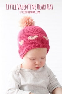 Little Valentine Fair Isle Heart Hat Knitting Pattern | littleredwindow.com