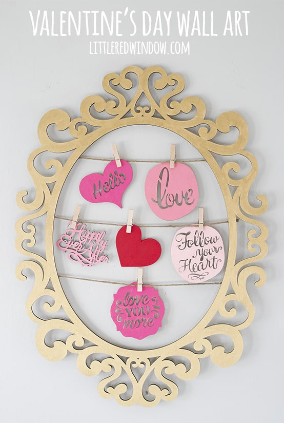 Cute DIY Valentine's Day Wall Art! | littleredwindow.com