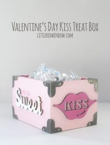 Cute Valentine's Day Kiss Treat Box! | littleredwindow.com