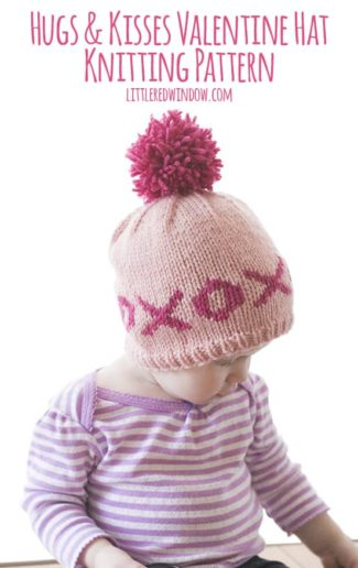 Fair Isle XOXO Hugs & Kisses Valentine Hat Knitting Pattern