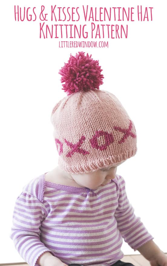 Fair Isle XOXO Hugs & Kisses Valentine Hat Knitting Pattern ...