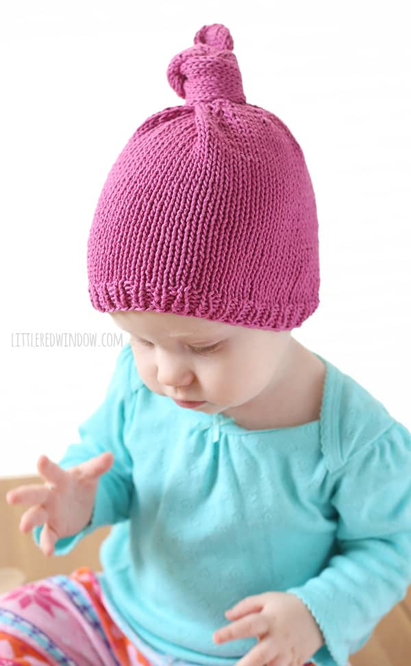 Little Knit Top Knot Hat Knitting Pattern - Little Red Window