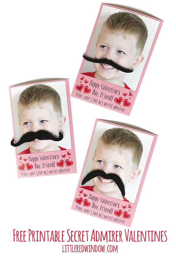 Free Printable Secret Admirer Valentines