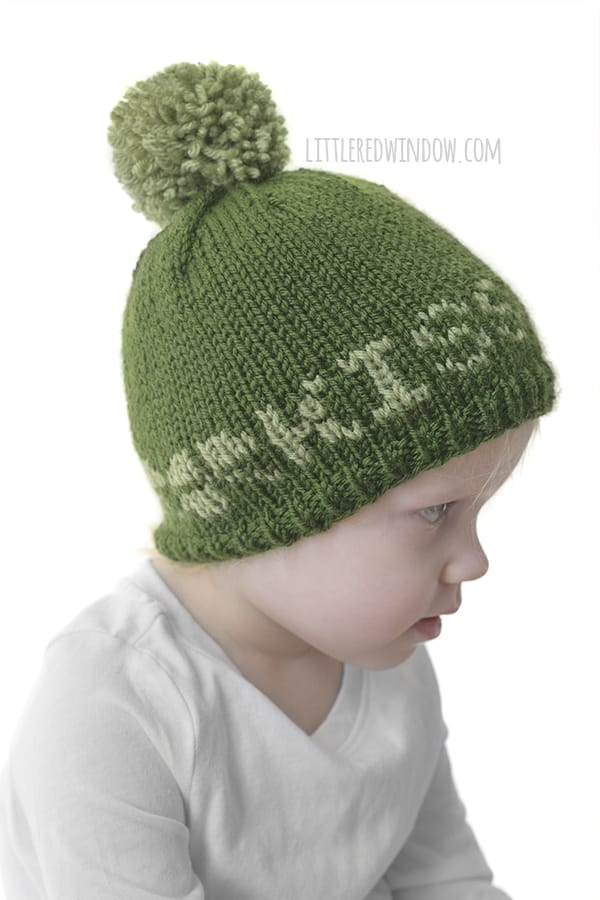 This cute Kiss Me Hat knitting pattern is perfect to knit for your baby for St. Patrick's Day!