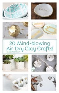 20 Mind-Blowing Air Dry Clay Crafts, you won't believe they're handmade! | littleredwindow.com