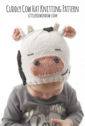 Cuddly Cow Hat Knitting Pattern