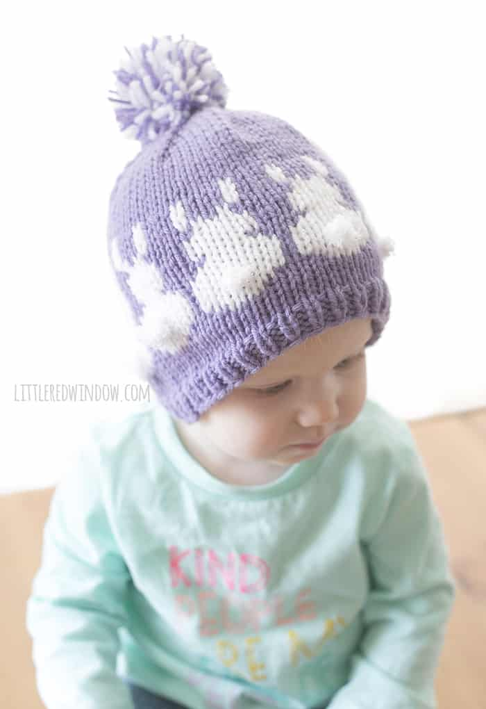 Easter Bunny Hat Fair Isle Knitting Pattern - Little Red Window