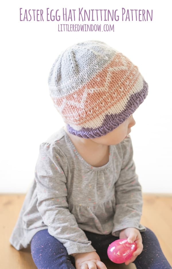 Fair Isle Easter Egg Hat Knitting Pattern - Little Red Window