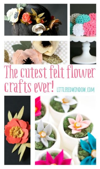The Cutest Felt Flower Crafts Ever!