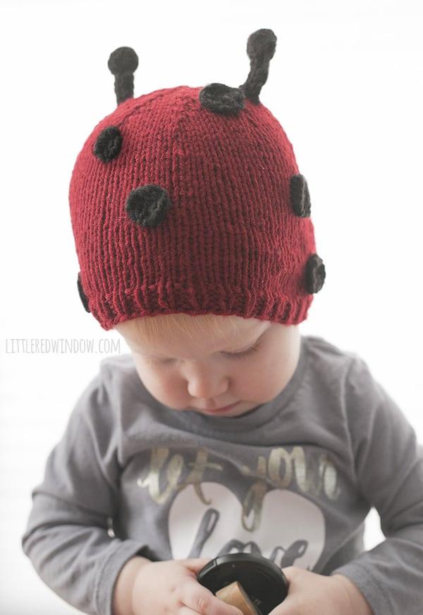 f7ede78c6990 Little Ladybug Hat Knitting Pattern - Little Red Window