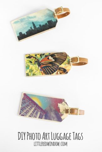 Photo Art DIY Luggage Tags