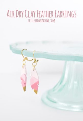 Easy Air Dry Clay Earrings