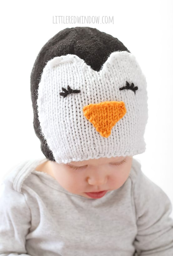 Cozy Penguin Hat Knitting Pattern Little Red Window