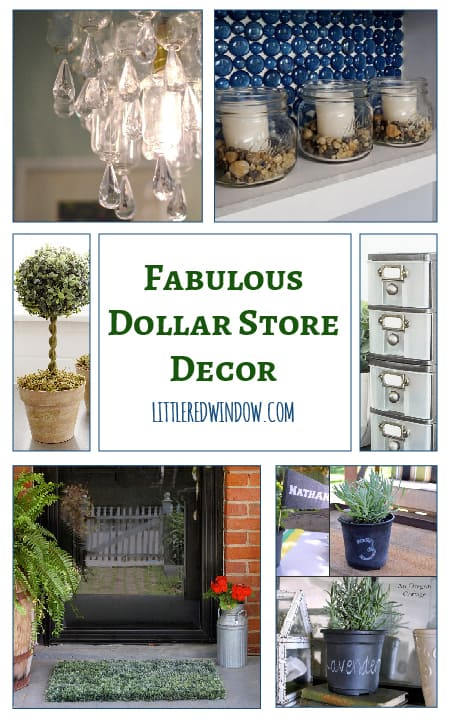 Fabulous Dollar Store Decor Ideas! | littleredwindow.com