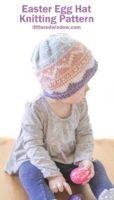 small This adorable baby & toddler Easter Egg hat knitting pattern is designed to look like a cute little Easter Egg with geometric fair isle designs. Knit up your Easter Egg Hat in pretty pastel colors but DON'T hide this cute little baby Easter Egg!
