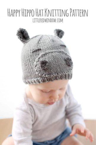 Happy Hippo Hat Knitting Pattern